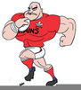 Welsh Rugby Player Clipart Image