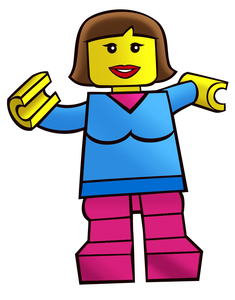Brick Toy Box Minifigures Drawings Girl Image