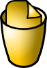 Full Trash Can Icon Clip Art