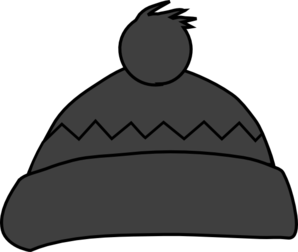 Grey Winter Hat Clip Art