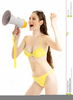 Girl In Swimsuit Clipart Image