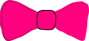 Pink Bow Tie Clip Art