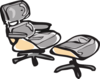 Small Eames Chair Clip Art