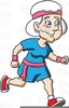 Clipart Of Old Lady Running Image