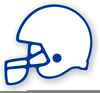 College Football Helmets Clipart Image