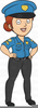 Policeman With Old Lady Free Clipart Image