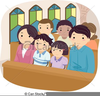 Free Family Worship Clipart Image