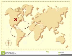 Pirate Treasure Map Clipart Image