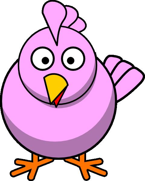 Big Pink Chick Clip Art At Clker Com Vector Clip Art