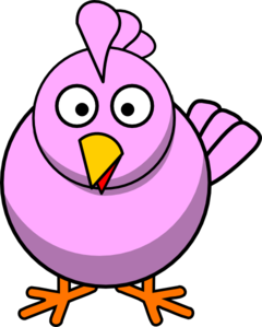 Big pink chick clip art at clker com vector clip art online royalty