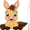 Baby Horse Cartoon Illustration Pony Very Cute Image