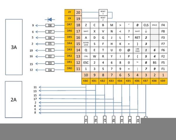Keyboard Wiring Diagram