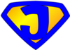 Jesus Superhero Logo Blue Yellow Md Image