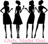 Free Girls Night Out Clipart Image