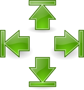 Green Arrows Set 2 Clip Art