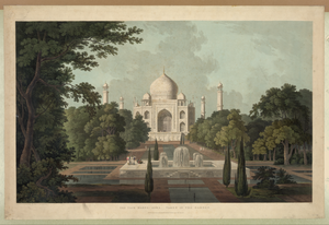The Taje Mahel, Agra. No. I  / Drawn & Engraved By Thomas And William Daniell. Image