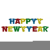 Happy New Year Clipart Black And White Image