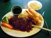 Teriyaki Chicken And Tempura Prawns In Vancouver Image