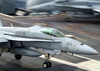 An F/a-18c Hornet Assigned To  Valions  Of Strike Fighter Squadron One Five (vfa-15) Makes And Arrested Landing On The Flight Deck Aboard Uss Harry S Truman (cvn 75). Image