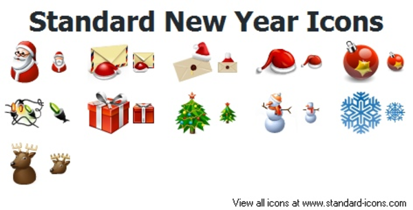 standard new year icons