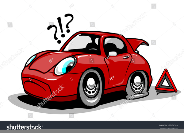 Car With Flat Tire Clipart Free Images At Clker Com Vector Clip