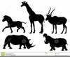 African Animal Silhouettes Clipart Image