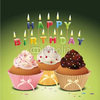 Happy Birthday Cupcake Clipart Image
