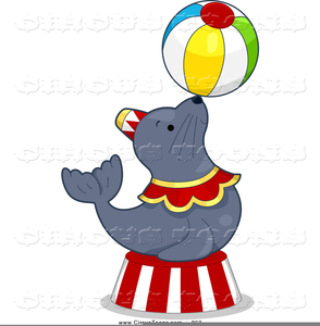 Clipart Circus Seal Image
