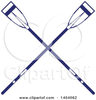 Crossed Oars Graphic Image