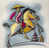 Horseman Chinese Vintage Poster Image