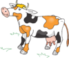 Black White And Orange Cow Clip Art