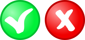 Red Green Ok Not Ok Icons Clip Art