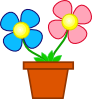 Flowers In A Vase Clip Art