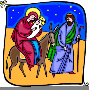 Baby In A Manger Clipart Image