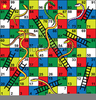 Snakes And Ladders Game Clipart Image