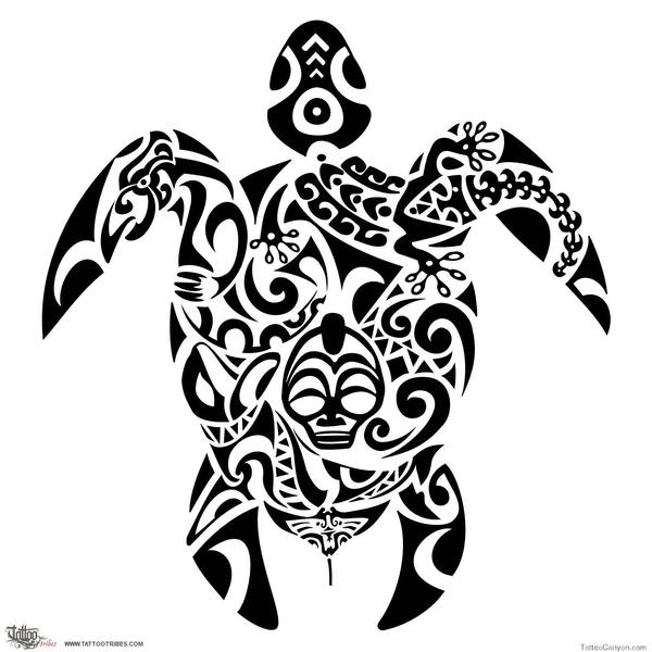 Turtle Tribal Tattoo Designs