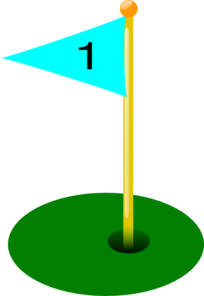 Golf Flag 1st Hole Clip Art
