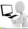 Clipart Man Working At Computer Image
