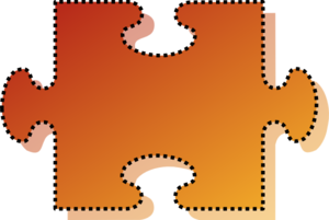 Jigsaw Orange Puzzle Piece Cutout Clip Art