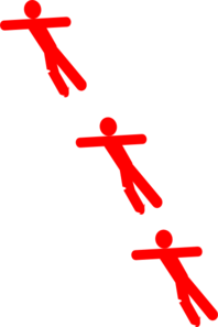 Red Falling Man Clip Art