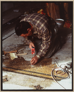 Willard Hotel Lobby Floor Being Fitted For Tile Pieces, 1985  / C.m. Highsmith. Image
