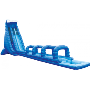 Inflatable Water Slide Blue Crush Lane Run N Splash Combo Image