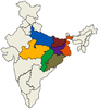 India Map With Pacs States Image