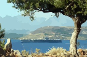 Souda Bay, Crete, Greece (jul. 8, 2002) Clip Art