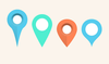 Map Markers Pins Psd Image