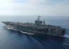 Uss George Washington Steams Through The Mediterranean Sea Image