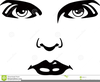 Clipart Of Eyes Nose And Mouth Image