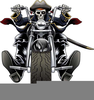 Old School Chopper Clipart Image