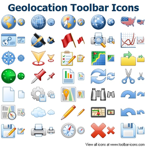 Geolocation Toolbar Icons Image