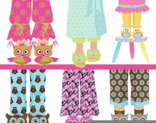 free pajama party clipart